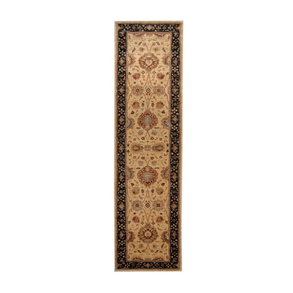 Herat Oriental Afghan Hand-knotted Vegetable Dye Oushak Wool Runner (2'7 x 9'2)