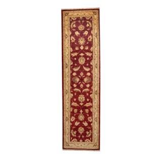 Herat Oriental Afghan Hand-knotted Vegetable Dye Oushak Wool Runner (2'8 x 9'10)