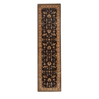 Herat Oriental Afghan Hand-knotted Vegetable Dye Oushak Wool Runner (2'8 x 10')