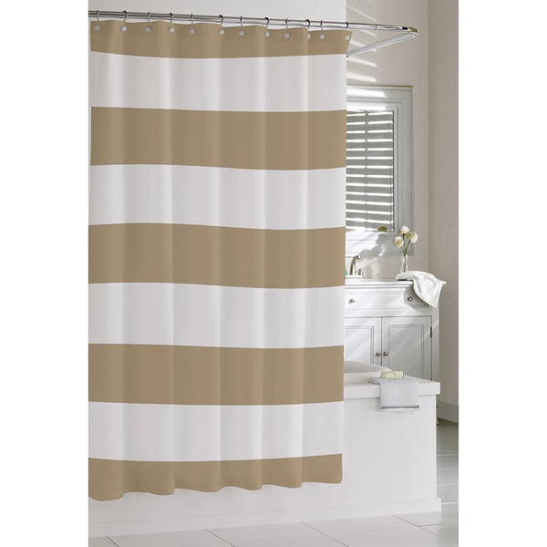 Coastal Stripe Shower Curtain Free Shipping Today