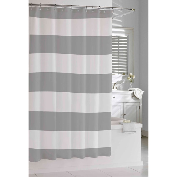 Shop Coastal Stripe Shower Curtain - Free Shipping Today - Overstock ...