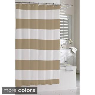 Striped stripe shower curtain