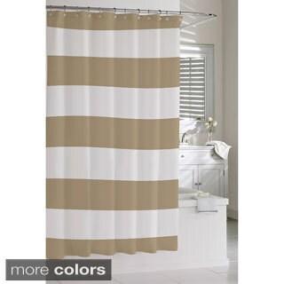 Charmant Coastal Stripe Shower Curtain