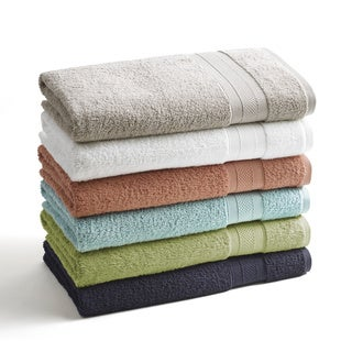 Vibrant Long Twist Cotton 6-piece Towel Set