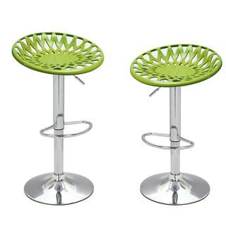 Adeco 360-degree Adjustable Height Bar Counter Seat Stools (Set of 2)