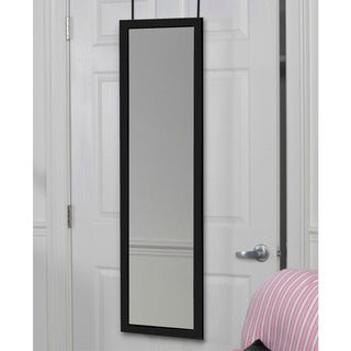 Over-the-door Glass/Wood Full-length 48 x 14 x 1.5-inch Dressing Mirror