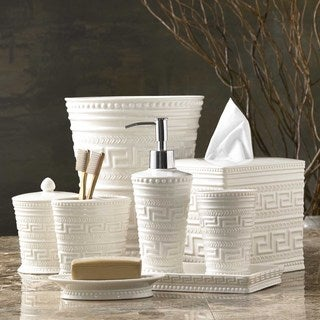 Grecian Motif Bath Accessory Collection