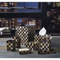 Checkered Natural Horn Bath Accessory Collection
