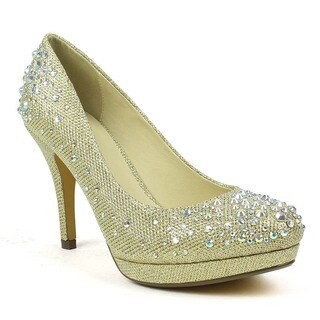 Celeste Women's Melissa-02 Rhinestone Embellished Closed-Toe High Heel Pump