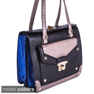 Melie Bianco 'Barbara' Color Block Satchel