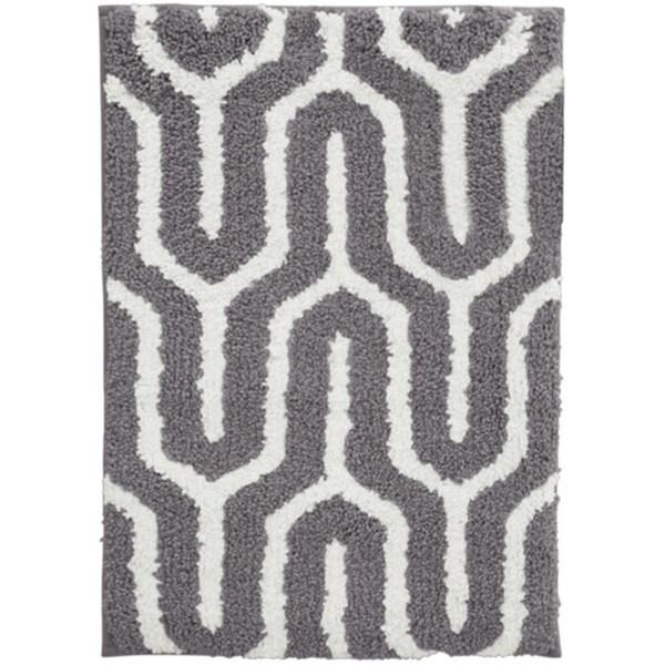 Geometric Microfiber Collin Rug (21 x 32)