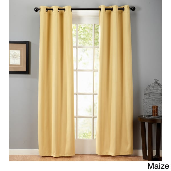 f1612541d01 Home Fashion Designs Amira Collection Blackout Grommet Curtain Panels - 38  inches x 84 inches -. Click to Zoom