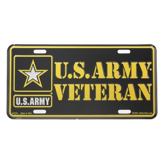 US Army Veteran Logo License Plate