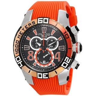 MULCO Unisex MW1-74197-065 Analog Display Swiss Quartz Orange Watch