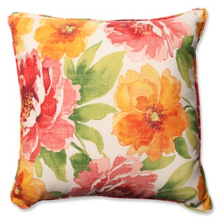 Pillow Perfect Outdoor/ Indoor Muree Primrose 23-inch Floor Pillow