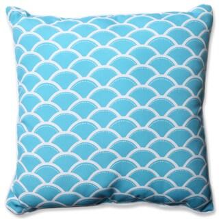Pillow Perfect Outdoor/ Indoor Sunny Turquoise 23-inch Floor Pillow