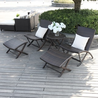 Handy Living Aldrich Brown Indoor/ Outdoor 5-piece Chair/ Table Set