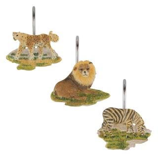 Sherry Kline Jungle Safari Shower Curtain Hooks (Set of 12)