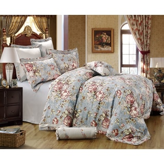 Sherry Kline Gwyneth 8-piece Sateen Luxury Comforter Set (Option: Multi)