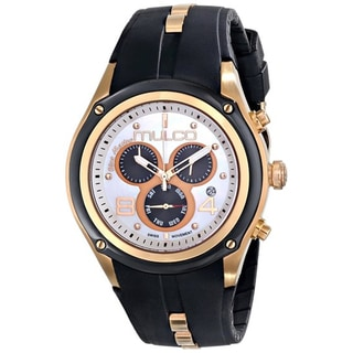 Mulco MW1-29902-021 Women's Blue Marine Chronograph White Mother Of Pearl Dial Black Rubber