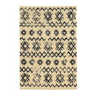 Linon Moroccan Mekenes Ivory/Black Rug (8' x 10')