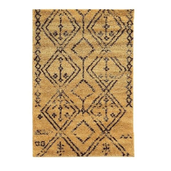 Shop Linon Moroccan Mekenes Camel Brown Rug