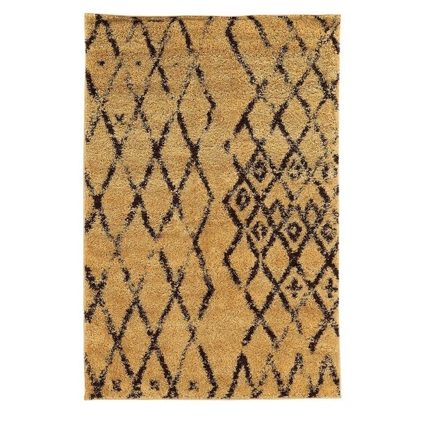 Shop Linon Moroccan Mekenes Camel Brown Rug: Shop Linon Moroccan Marrakes Camel/Brown Rug (3' X 5