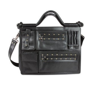 Multi-pocket 'Style Statement in Black' Laptop Bag (India)