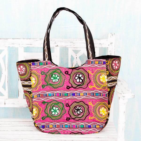 Cotton 'Glorious Gujarat' Shoulder Bag (India)