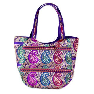 Brocade 'Paisley Parade' Shoulder Bag (India)