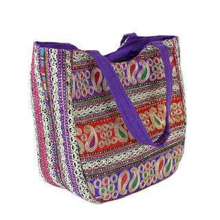 Embroidered 'Paisley Flair' Shoulder Bag (India)