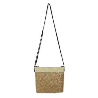 Handmade Natural Fibers Cotton 'Siam Elephants' Shoulder Bag (Thailand)