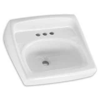 American Standard Lucerne White Wall-mount Porcelain Bathroom Sink