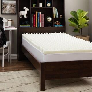Slumber Solutions Dorm Big Bump 3-inch Twin XL-size Memory Foam Mattress Topper
