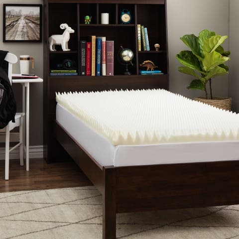 Slumber Solutions Dorm Highloft 3-inch Memory Foam Mattress Topper