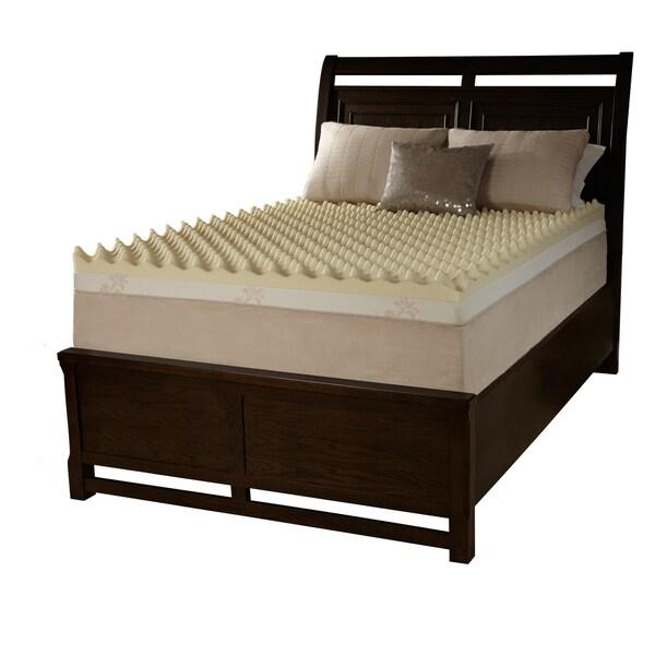 shop grande hotel dorm big bump 3 inch twin xl size memory foam mattress topper on sale free. Black Bedroom Furniture Sets. Home Design Ideas