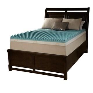 Grande Hotel Dorm 4-inch Twin XL-size Textured Gel Memory Foam Mattress Topper
