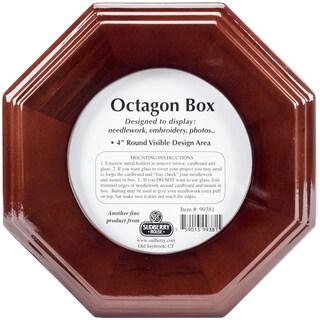 Mahogany Octagon Box 6inX6inX2.75inDesign Area 4inX4in