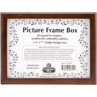 Mahogany Picture Frame Box 8.25inX6.25inX2.75inDesign Area 5inX7in