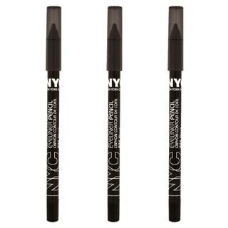 NYC Proof 24-hour WP Black Eyeliner (Pack of 3)