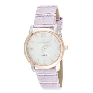 Via Nova Boyfriend Women's Rose Case and Pink Leather Strap Watch