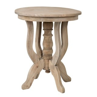 Pascagoula Brown Round Side Table