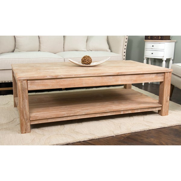 Richland Off White Rectangle Coffee Table Free Shipping Today 17269142
