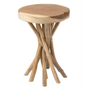 Arabi Brown Round Side Table