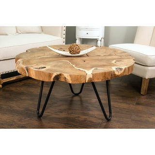 Arlington Brown Round Coffee Table