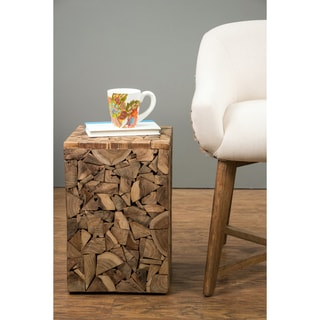 Atlanta Brown Square Side Table