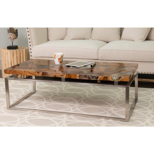 Shop Multi Colored Rectangle Coffee Table Free Shipping