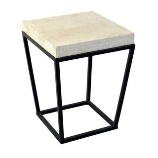 Bowdon White Square End Table