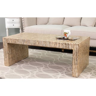 Braswell Off-White Rectangle Coffee Table