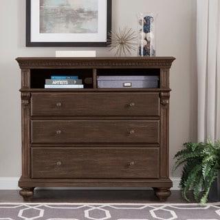 Cristoph Warm Brown 2-shelf 3-drawer TV Stand